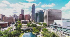Skyline view of downtown Omaha.